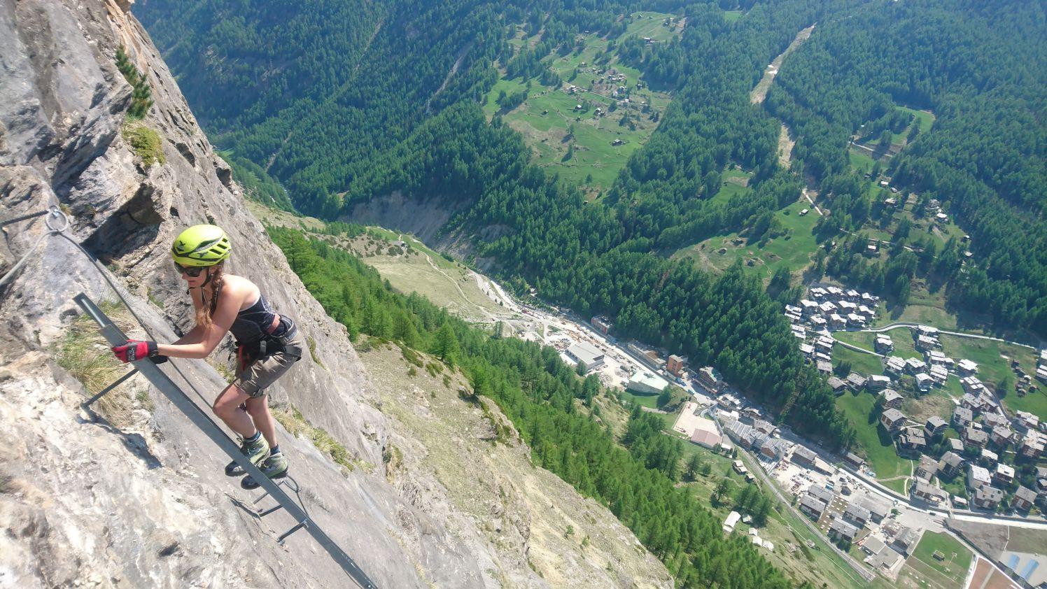 Klettersteig In English : Mammut klettersteig zermatters